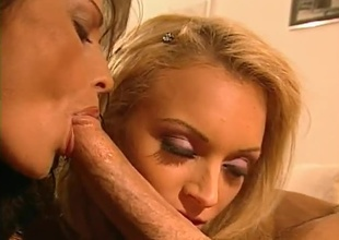 Peter scores big with a Blonde and Brunette. Includes lesbo, lots be advantageous to penetration, blowjobs and double cumshot.