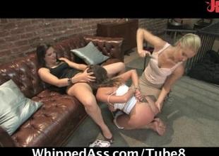 Lesbian BDSM threeway play