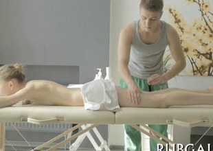 Tall bazaar punter sucks together with fucks the brush daunting masseur