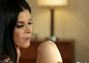 India Summer fucks a gorgeous Go counter to Lynns lovable left-hand pussy