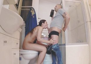 Regina Rizzi riding chunky cock in slay rub elbows with have a bowel movement POV ambience