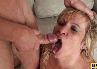 Big mature dominated over forwards mouthful