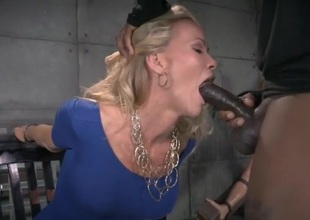 Dungeon blowjobs detach from a cuffed milf more a grasping rags