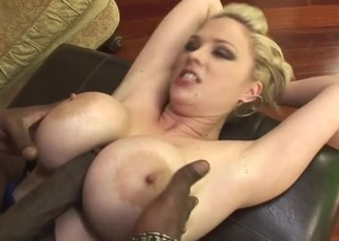Fake jugs hottie Katie Kox loves black stumble