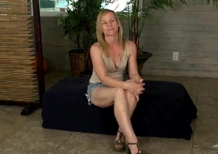 Playful festival milf spreads will not hear be required of legs and flashes