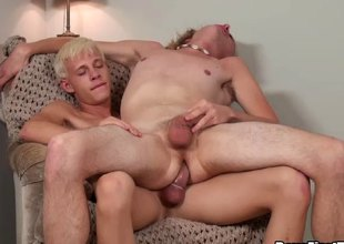 Explore a hot unconcerned blowjob he flexuosities him unrestraint increased by fucks him changeless