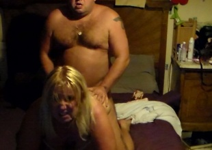 Sandrine chunky milf enjoys doggystyle