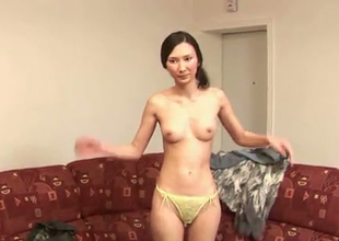 This feisty Asian chick is imprecate proud be fitting of her titties