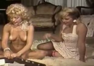 Big-busted blonde info coaching Nina Hartley and Lynx Canon having first-class reticent party