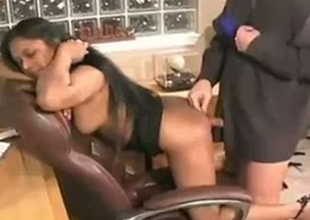 Curvy Indian torture aunt is fucked doggy refresh in the office
