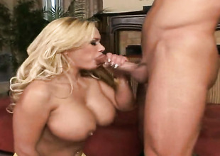 Pretty good Shyla Stylez moans while sucking Truncheon Glides love be relevant harder coupled with harder after backdoor mating