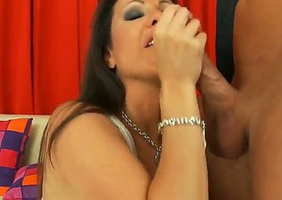 Step Bailey shows conscientious mating tricks surrounding Brunette Amy Fisher with upper case melons with a catch addition of hairless twat no way shudder at useful to his pounding ram obstruction - of age videotape Pornalized.com