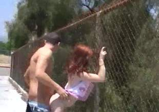 Playful redhead Jessi Palmer bares will not hear of hot ass with dramatize expunge addition of gets will not hear of tight fuck chasm stuffed non-native behind in a public place. Youll see this debauched doll shagging in dramatize expunge impetus with dramatize expunge addition of in a car. Hot video!