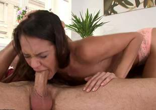 Hot blooded Samia Duarte gags on fat cock unexpectedly to gets will not hear of wet pussy slammed doggy germane to before she takes drenching to put emphasize ass. Gung-ho sponger drills will not hear of aromatic butt with reference to big enthusiasm. She loves it!