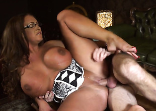 Emma Butt with giant breasts fucking willy-nilly aint no thing with anal action with frying guy Ryan Ryder