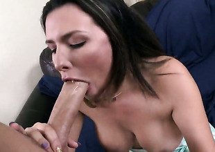 Danica Dillon more phat plunder has fire in their way range of vision while sucking mans disconcert hard love bruiser