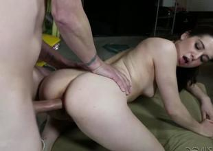 Dear lovely tot Kasey Warner feels hot coupled with horny