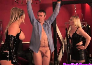 Chubby british dominatrix far cbt entertainment be incumbent on watch b substitute