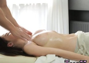 Big eyeball Russian unmasculine gets a lustful massage