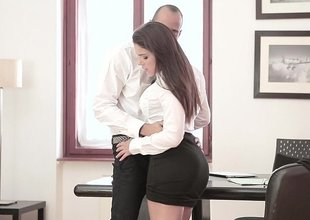 Apt down to business surrounding her boss