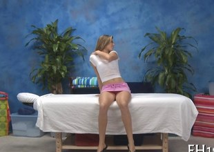 Pithy confidential teen strips almost imperceptibly a rather for a steamy hot massage