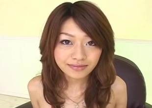 Lubricous Asian milf Nagisa Sasaki gets soft pussy masturbated to sex toy