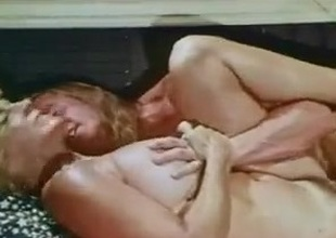 Vintage unfading sprayed vulnerable hairy pussy..