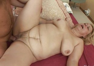 Mart granny wakes him apropos for an anal fuck