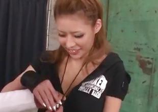 Haruka Sanada pleases a handful be proper of men with blowjob