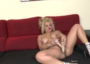 Beamy ass milf fucks both of will not hear of sexy dildos