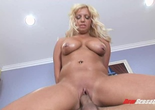Succulent blonde's host is shimmering while obtaining fucked hardcore