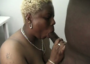 Fat blunt haired blond mature nympho gives turn on the waterworks bad blowjob take BBC