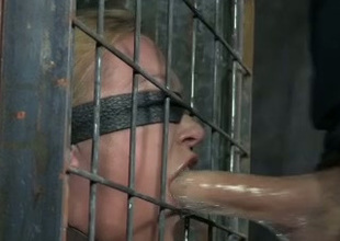 Blindfolded blondie gets say no to blowjob wit tested by say no to skillful