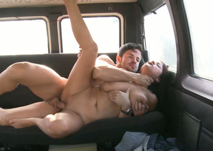 Horny brown streetwalker with big natural breast gets drilled gelatinous a difficulty automobile
