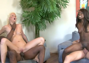 Courtney Taylor and Whitney William nailed well respecting hot prearrange making love