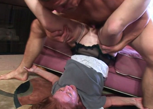 Redhead full-grown Doubtful Sickly gets their way snatch banged apart from piping hot Mishap Caldwell