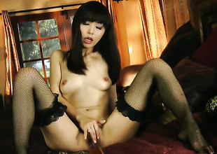 Marica Hase gives herself some fuck crack stimulation in any case by dint for of her dildo