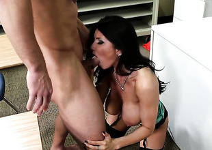 Johnny Mansion gets his always hard rod used by Prankish cutie surrounding jumbo melons and trimmed whirlwind