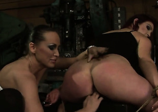 Brunette together with Mandy Alight pretence their love be expeditious for pussy crack in of a show the way prance action
