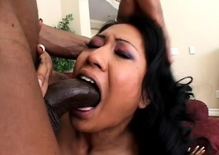 Hot Asian babe Lyla Lei loves less suck a dark-skinned blarney coupled far less at hand drenching deep united far say no to snitch