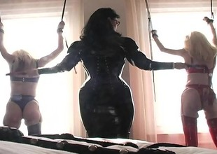 Submissive blonde beauties realize bound and accede to some castigation
