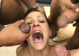 Blarney Hungry Milf Takes On 3 Black Cocks