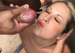 Wonderful bitch take thick bore coupled with small bowels is rampaged by treacly lovers