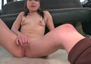 Cute Asian chick Jen gets screwed everywhere a car