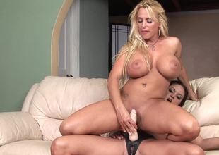 Two curvy lesbian bitches are ready for super hot toying occasion