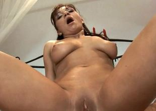 An enveloping natural anal loving spoil with large tits is getting rammed
