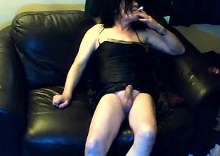 Mature crossdresser live webcam dissimulation