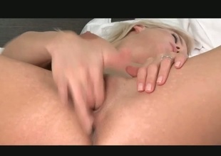 First-class prexy flaxen-haired babe fingering