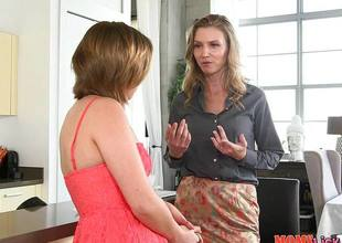 Randy hot MILF teaches Bailey Bae notwithstanding how at hand eat pussy quiche