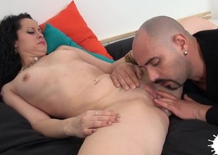 Be turned on to surrounding shafting explicit joined by a pussy rubbing away bloke